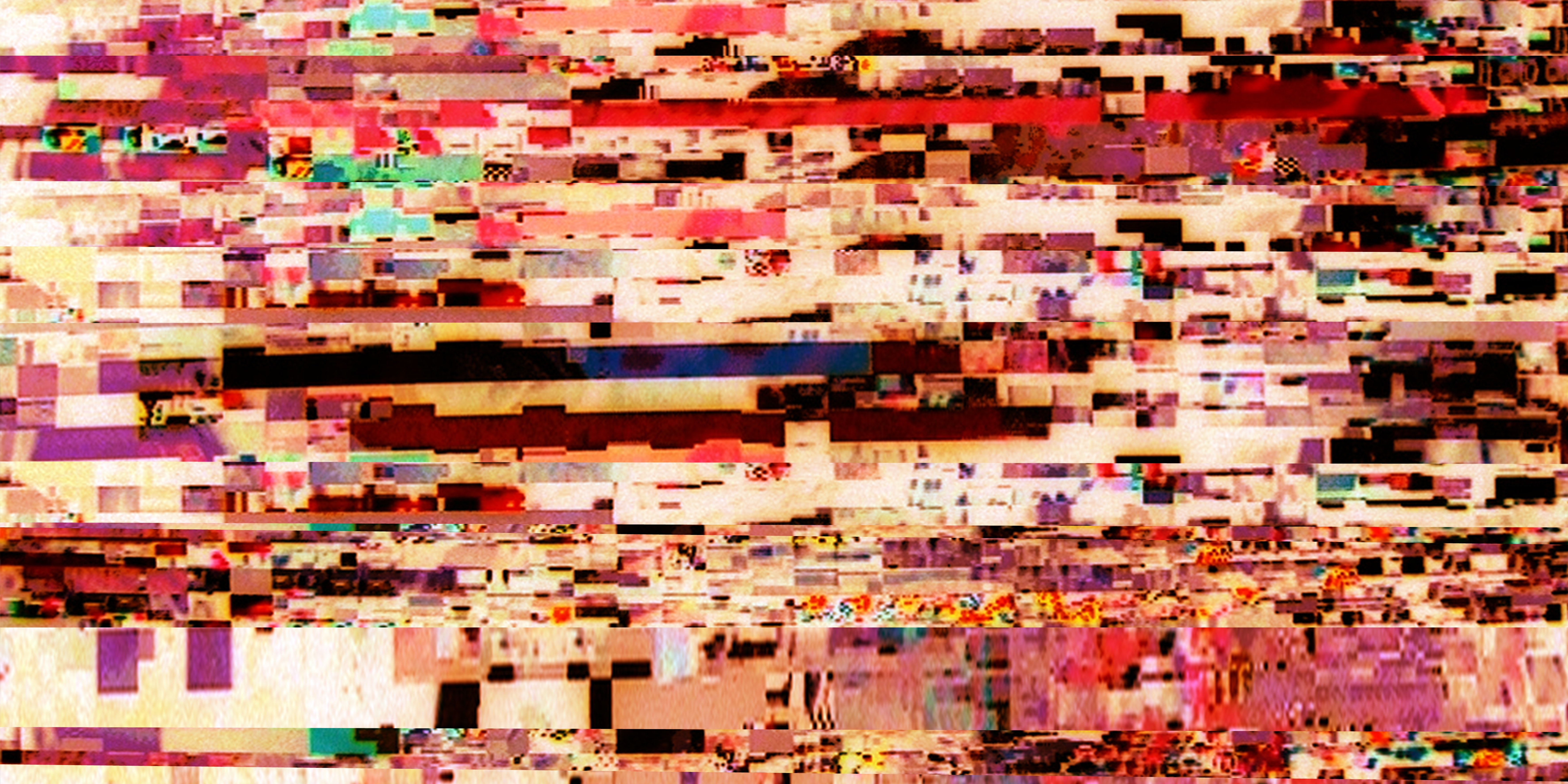 The Beautiful Works: Crypto Glitch for above your Couch No. 1, C-Print,  180 x 90 cm, 2018
